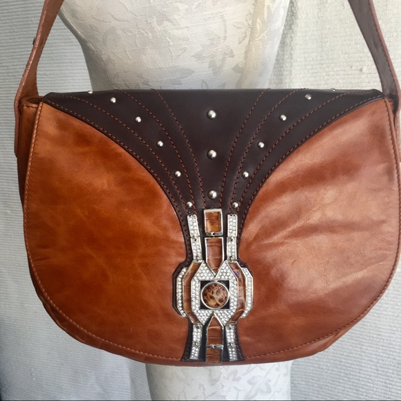 Giuseppe Zanotti Handbags - Giuseppe Zanotti Boho Glam Leather Shoulder Bag